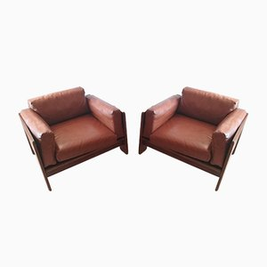 Rosewood Club Chairs by Tobia & Afra Scarpa for Gavina, 1960s, Set of 2