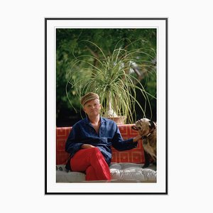 Truman Capote Oversize C Print Framed in Black by Slim Aarons