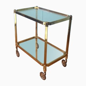 Mid-Century Brass Drinks Trolley, 1950s