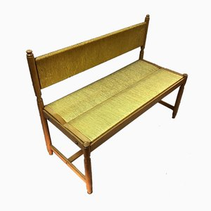 Wood and Straw Bench, 1960s
