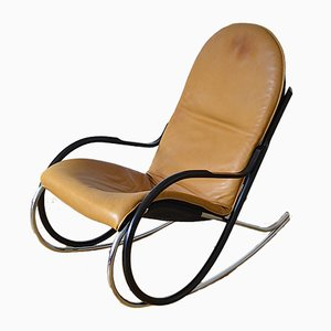 Vintage Swiss Rocking Chair by Paul Tuttle for Strässle, 1970s