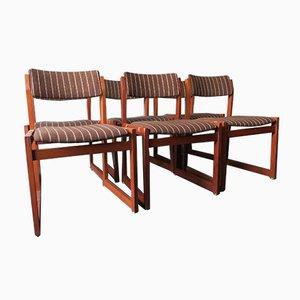 Danish Teak Slung Seat Dining Chairs, 1950s, Set of 6