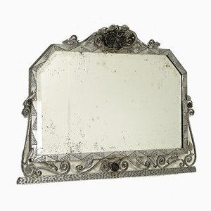 Wall Mirror with Wrought Iron Frame, USA, 1930s