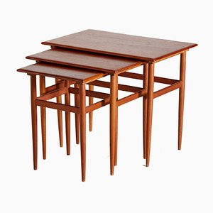 Mid-Century Danish Teak Nesting Tables, 1960s