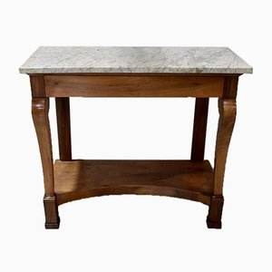 19th Century Restoration Period Walnut Console Table