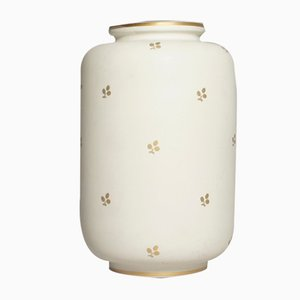 Decorated Carrara Vase by Wilhelm Kåge for Gustavsberg, 1940s