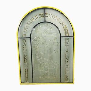 Antikes Fenster aus Bleiglas
