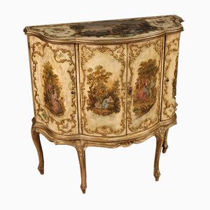 Venetian Sideboard in Lacquered, Gilded and Painted Wood, 1960s