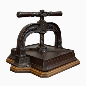 Antique Ornate Book Press, 1890s