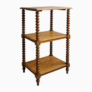 Small Open Bookshelf with Ball Columns, 1870s