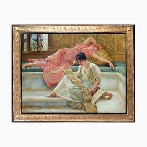 Italian Bath of Caracalla Figurative Öl auf Leinwand Gemälde von Angelo Granati, 2015