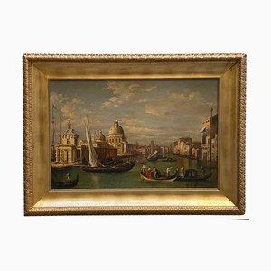 Tableau Paysage Huile sur Toile de Venise par Mario De Angeli, Italie, 2009