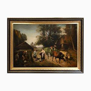 Italian Country Landscape Öl auf Leinwand Gemälde von Emilio Pergola, 2005
