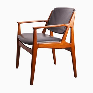 Teak and Leather Chair by Arne Vodder for Vamø, 1960s