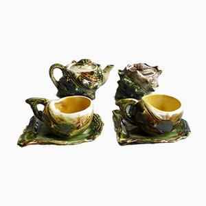 Vintage Ceramic Seafood Tea Set, 1960s, Set of 6