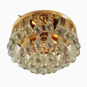 Vintage Murano Glass Drop Ceiling Lamp from Palwa, 1970s