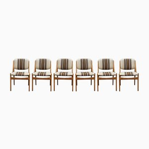 Mid-Century Model Ella Dining Chairs by Arne Vodder for Vamø, Set of 6