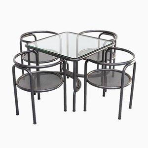 Juego de mesa y sillas de comedor de Gae Aulenti para Poltronova, años 70. Juego de 5