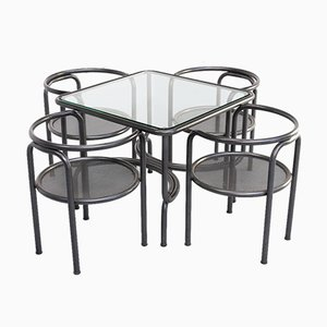 Set Table de Salle à Manger & Chaises par Gae Aulenti pour Poltronova, 1970s, Set de 5