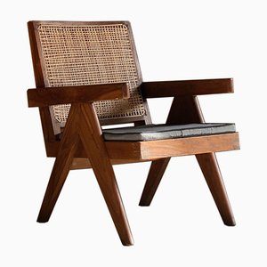 Low Easy Model PJ-SI-29-A Rosewood Armchair by Pierre Jeanneret for Pierre Jeanneret, 1950s