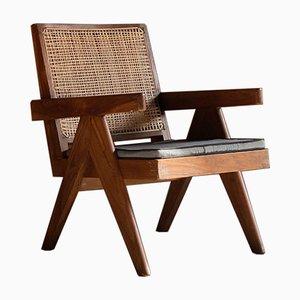 Low Easy Model PJ-SI-29-A Rosewood Armchair by Pierre Jeanneret for Pierre Jeanneret, 1950s