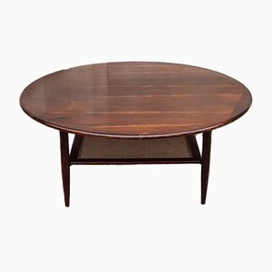 Peter Hvidt Style Rosewood Coffee Table, 1960s