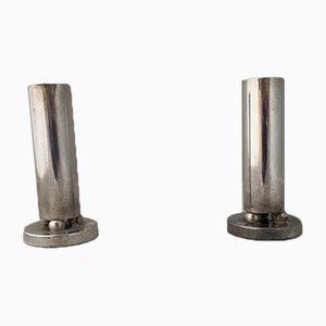 Silberne Kerzenhalter oder Blumenvasen von Gio Ponti für Krupp, 1940er, 2er Set