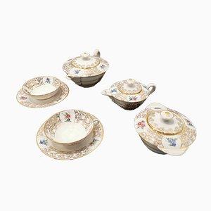 Vaisselle Vintage de Porcelaine de Limoges, Set de 7