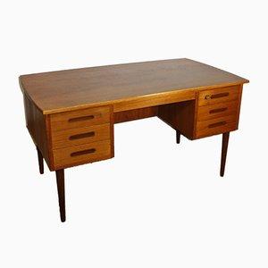 Scandinavian Teak Boomerang Desk, 1960s