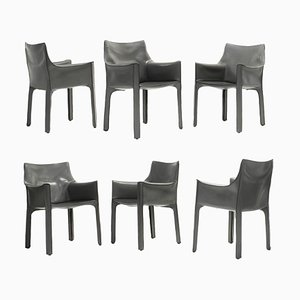 CAB 413 Dining Chairs by Mario Bellini for Cassina, 1970s, Set of 6