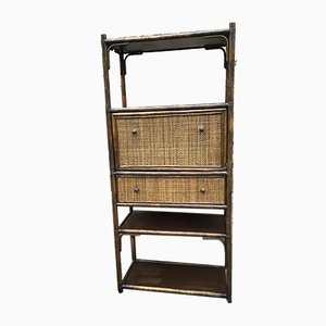French Rattan Secretaire, 1960s