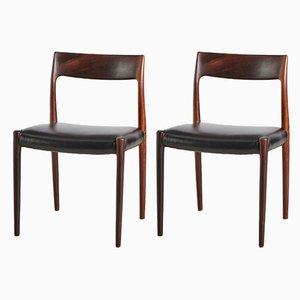 Chaises de Salon 77 en Palissandre par Niels Otto Møller pour JL Moller, 1960s, Set de 2