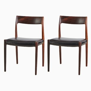 Rosewood 77 Dining Chairs by Niels Otto Møller for JL Moller, 1960s, Set of 2