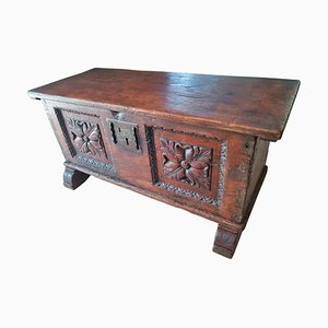 French Renaissance Oak Chest, 17th-Century
