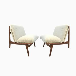 Model 790 Lounge Chairs by J.A Motte for Steiner, 1960s, Set of 2