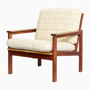 Mid-Century Teak Capella Easy Chair by Illum Wikkelsø for Niels Eilersen, 1960s