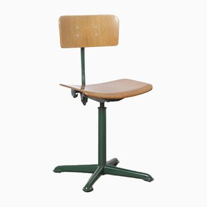 Green Drafting Chair by Oda Ahrend, 1950s