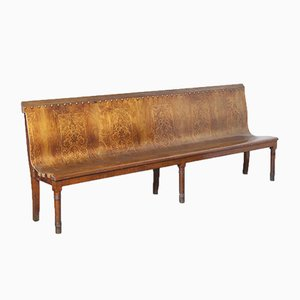 Antique Train Station Waiting Room Bench
