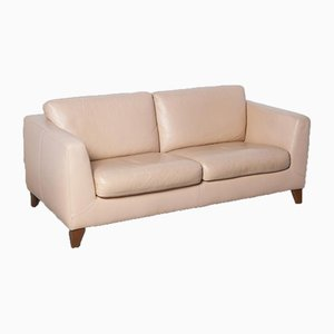 Salmon Pink Leather 2-Seat Sofa from Machalke & Machalke, 2010s