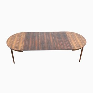 Mid-Century Danish Rosewood Trople Extendable Dining Table