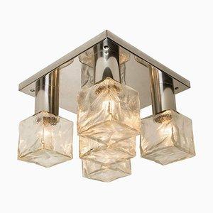 Murano Eisglas Deckenlampe von Kalmar, Österreich, 1960er