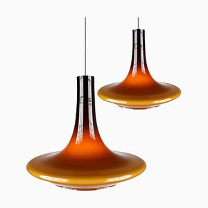 Murano Glass Pendant Lamps, 1970s, Set of 2