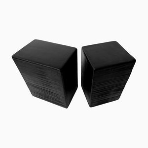 Duet Cube Side Table Sculpted by Kreadiano