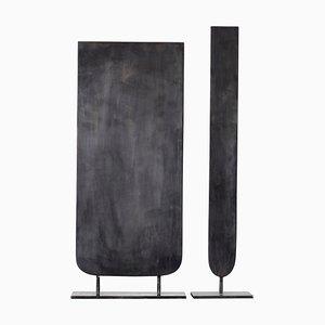 Skulpturale Stahl Vasen von Lukasz Friedrich, 2er Set