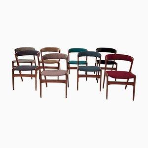 Mid-Century T21 Fire Chairs by Korup Stolefabrik, 1960s, Set of 8