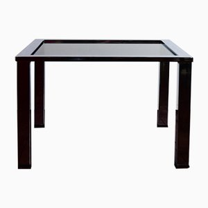 Coffee Table in Polished Chrome & Grey Smoked Glass by Milo Baughman for Thayer Coggin, 1960s