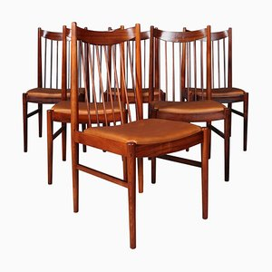 Rosewood Model 442 Chairs by Arne Vodder for Sibast, 1960s, Set of 6