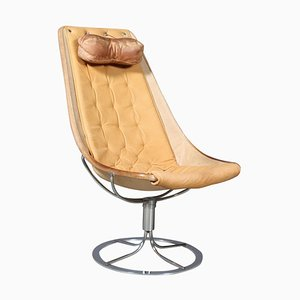 Jetsson Lounge Chair with Nature Leather by Bruno Mathsson, 1960s