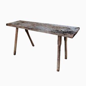Table de Boucher Antique en Forme de Trapèze