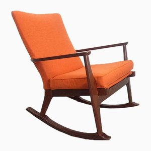 Vintage Beech and Wool Model 973/4 Rocking Chair from Parker Knoll, 1960s